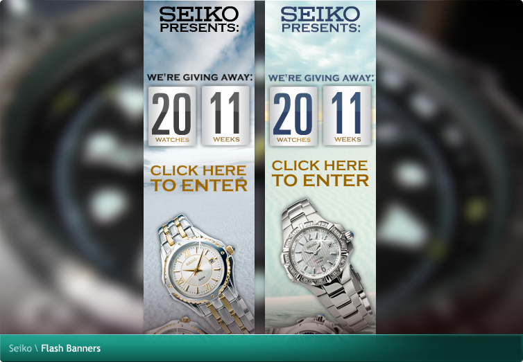 Seiko Flash Banners